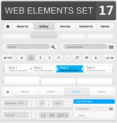 Web elements set 17 vector