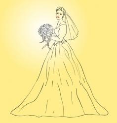 wedding dress vector image