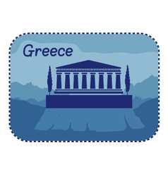 With acropolis athens in greece vector