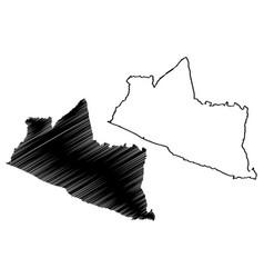 Yogyakarta map vector