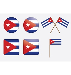 badges with flag of Cuba vector image vector image