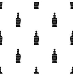 bottle of scottish whiskey icon in black style vector image