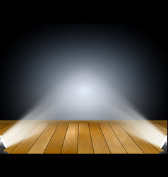 dark background with spotlights vector image vector image