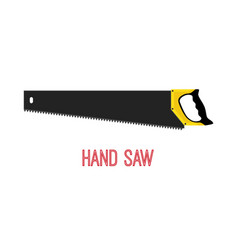 hand saw work tool carpentry instrument vector image vector image