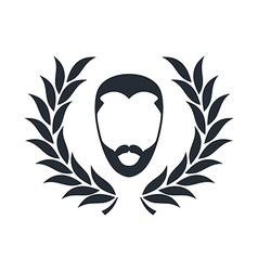 hipster guy with wreath vector image vector image