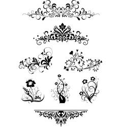 Vintage patterns for design vector image