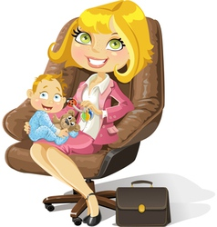Business mom vector image