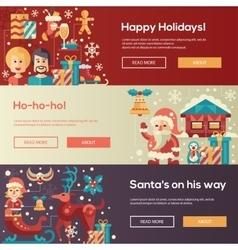 Christmas flat design website banners vector