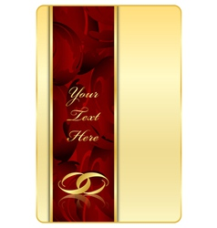 gold red background with rings vector image vector image