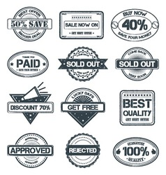 Selling Rubber Stamp vector image vector image