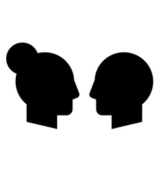 Woman and man profiles vector image vector image