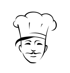 Chef with a moustache and toque vector image