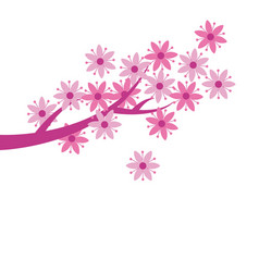 simple naive pink color sakura blossom primitive vector image vector image