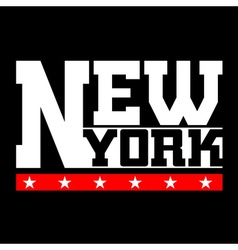 T shirt typography New York vector image