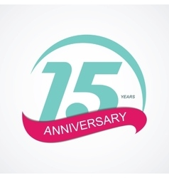 Template Logo 15 Anniversary vector image vector image