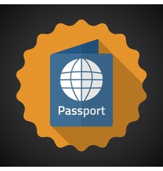 Travel passport flat icon background vector