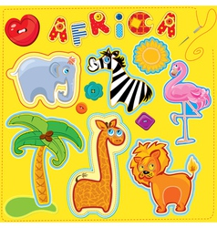 africa for kids 380 vector image