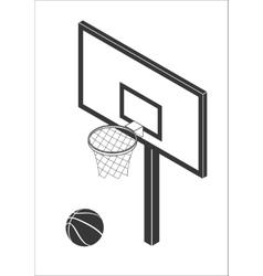 Basketball backboard icon vector image vector image
