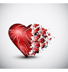 Broken heart vector image vector image