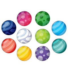 Group of balls vector image vector image