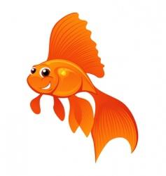 happy goldfish vector image