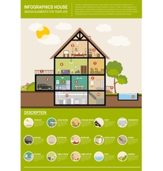 House infographics vector image vector image