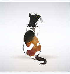 stylized cat with spots vector image