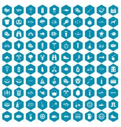 100 bbq icons sapphirine violet vector