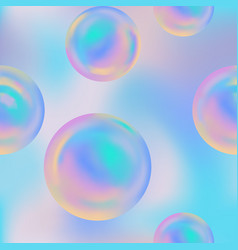 abstract seamless pattern with rainbow balloons vector image