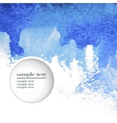 Abstract watercolor blue background vector