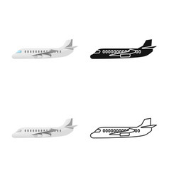 Airliner and comfort icon vector