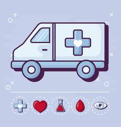 Ambulance and medical design vector