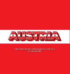 Austria flag color text style design templates vector