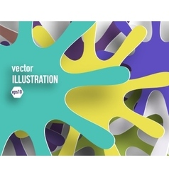 background of color abstract snowflakes vector image