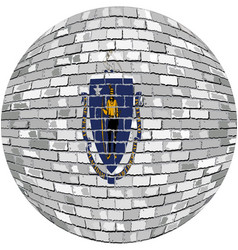 Ball with massachusetts flag vector