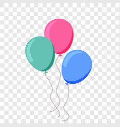 balloon ballon flat cartoon birthday party vector image