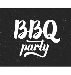 BBQ party logo Barbeque text lettering label vector image vector image