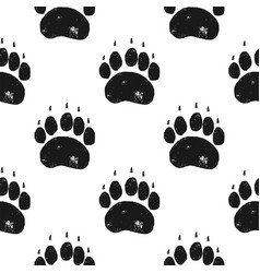 bear paw pattern claw seamless background vector image