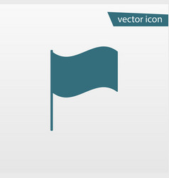 blue flag icon isolated on background modern simp vector image