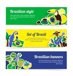 Brazil Banner Set vector image