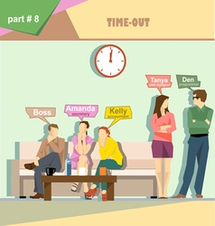 Business company roles situation infographics with vector