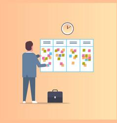 businessman scheduling his work agenda weekly vector image