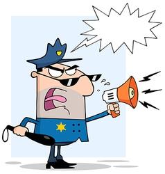 Cartoon police officer vector image