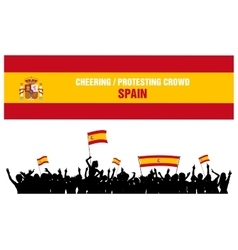 Cheering or Protesting Crowd Spain vector image