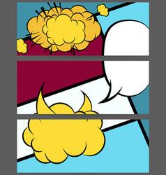 comic balloon horizontal geometric banner vector image