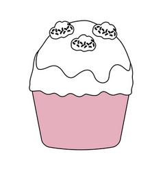 Cupcake sweet dessert vector