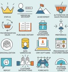 Customer relationship management - part 1 vector