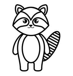 cute and tender raccoon character vector image