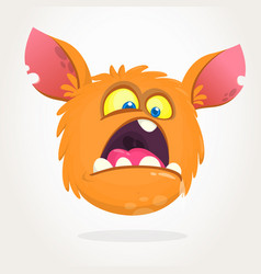 cute small scared cartoon monster vector image