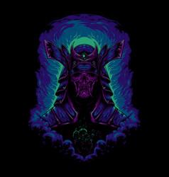 devil samurai vector image